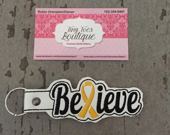 Believe Childhood Cancer Key Chain