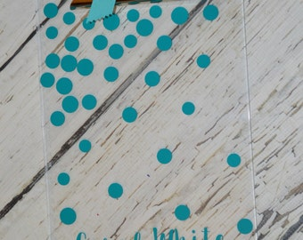 Personalized Cascading Polka Dot Clipboard