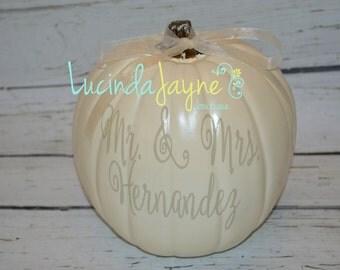 Medium Personalized Pumpkin