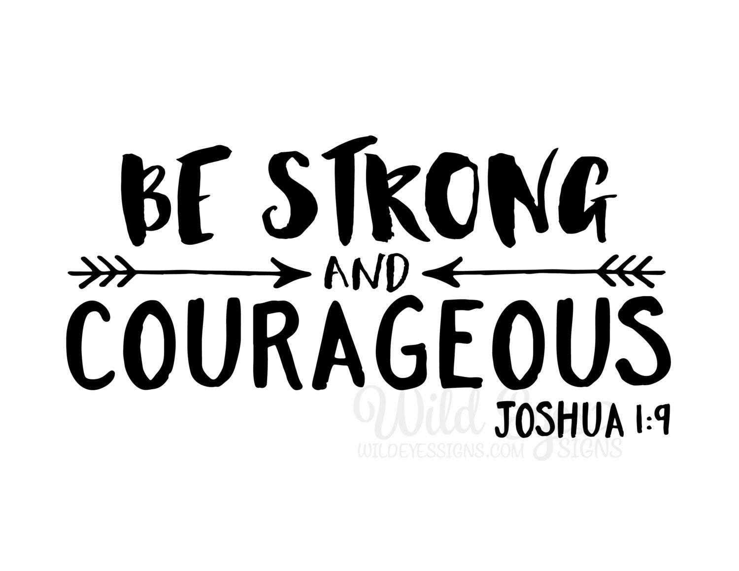 Boys Wall Sticker Be Strong And Courageous Explorer Nursery Arrows Tribal