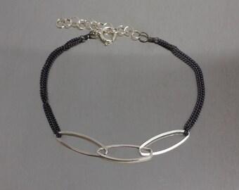 Dual Tone Three Link Bracelet