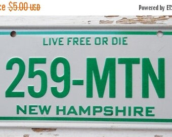 ON SALE Vintage, New Hampshire, 1981, Bike Plate, Bicycle, License Plate, Cereal Premium, Miniature, Tin, Embossed, Collectibles