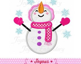 Instant Download Snowman Embroidery Applique Design NO:1867