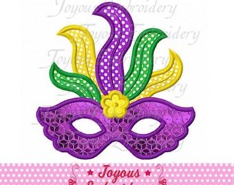 Instant Download Mardi Gras Mask Applique Embroidery Design NO:1904