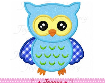 Instant Download Cute Owl Applique Embroidery Design NO:2013