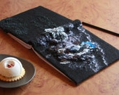 Wedding guestbook - Felt covered diary - Unique art journal