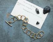 MORI - hand forged chain bracelet