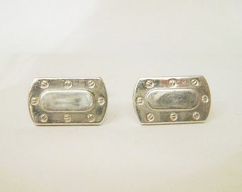Vintage sterling silver cufflink for mens accessories cuff links