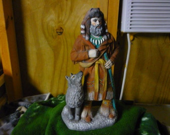 Mountainman with Wolf