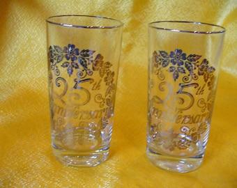 25 th Anniversary set of Glasses (8)