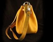 Small Leather Bucket Bags / Leather Bucket Handbag / Shoulder Bags