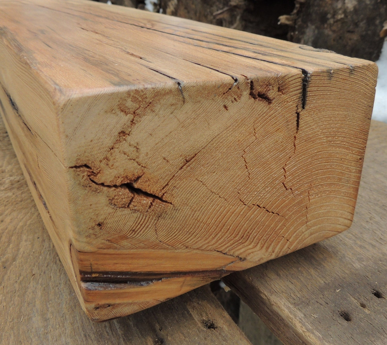 Reclaimed Barn Beam Rustic Douglas Fir Fireplace Mantel Or