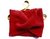Super chunky knit red oversized scarf scarves wraps winter möbius cowl indigo infinity warm fall accessories handmade