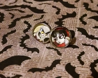 Beetlejuice and Lydia animated earrings