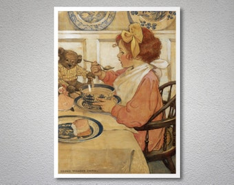 The Seven Ages of Childhood by Jessie Willcox Smith  - Poster Paper, Sticker or Canvas Print