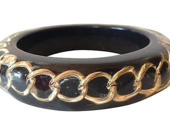 1980s Lucite Chain-Link Bangle