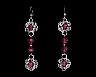 Red Royal Ricardo Earrings | silverplated