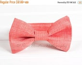 ON SALE Boy's Bow Tie, Newborn, Baby, Child- Coral, Textured (2-3 Business Day Processing)