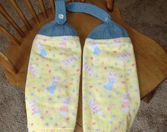Easter - Bunnies & Jelly Beans Knit Top Kitchen Towels