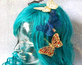 Butterfly hairclips - medium - 8 colours - fairylove