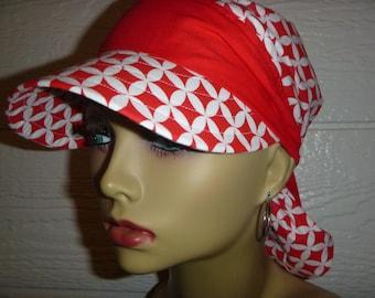 Sun Hat,Chemo Hat,Chemo Cancer Headwear,WomenSun Hat,SunVisor,Chemo Cap,Alopecia,Scarf Hat,Scarf Visor, Visor,Do Rag Visor,Womens Hat