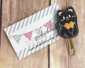 Halloween/Kitty/Cat/Felt Applique Paper Clip/Planner Clip/Bookmark/Journal Marker
