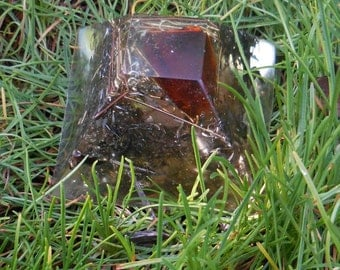 B4 Energy Art Red Glass Orgone Chi Ki Prana Pyramid. Powerful and pretty orgone life force energy !