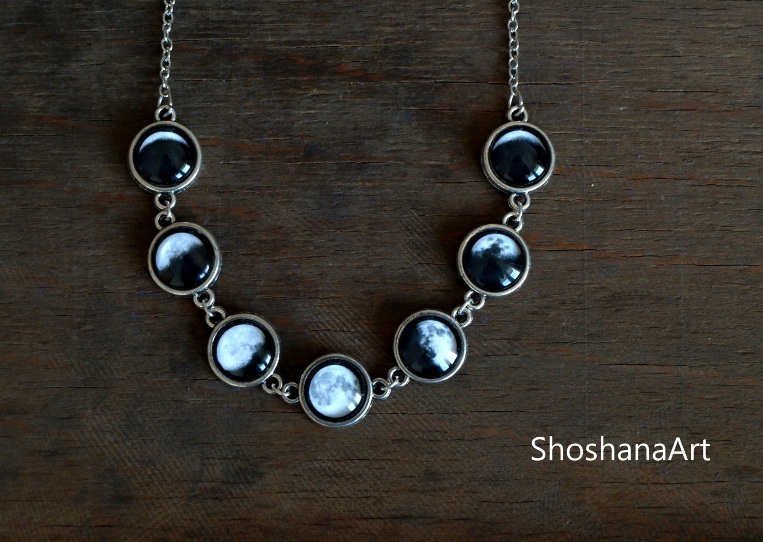 moon phases bracelet moon phase necklace lunar phases jewelry glass dome statement 9800