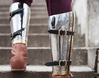 "20% DISCOUNT! SCA Armor Greaves ""The King's Guard"""