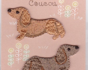 Dachshund Sausage Dog  Embroidered Iron-on Applique Iron-on Patch (H457-946)  Buy other items together for BETTER price.