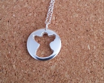 Angel Necklace Angel Jewelry Sympathy Pendant Remembrance Gift Religious gift Angel Angel gift Christian jewelry Guardian angel