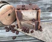 Coffee Lover Gift, Goat Milk Soap, Coffee Vanilla Cold Process Body Soap,