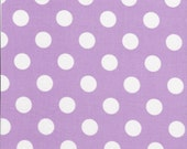 White Polka 1/2 inch Dots on Lavender by Riley Blake