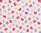 Sale Fabric - Bow Fabric - Pink Fabric - Lecien Fabric