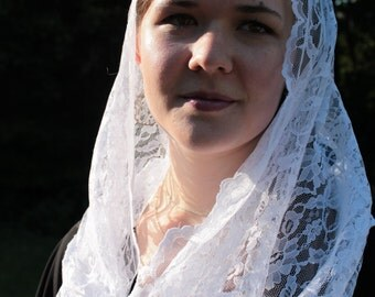 Chapel Veil/ Infinity Veil/ Eternity Veil/ Mantilla/ Lace Veil/ Head Covering/ Catholic Church Veil / Mantilla For Mass