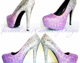 Custom Glitter High Heel Designs by ChelsieDeyDesigns on Etsy