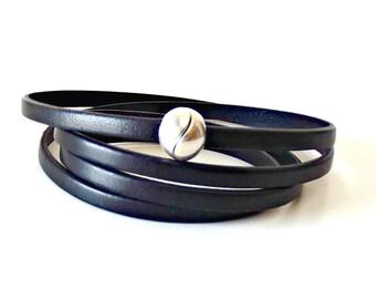 Wrap leather bracelet, leather wrap bracelets, wrap bracelet,  husband gift, bracelet homme, boyfriend gift