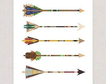Arrows Art Print- Wall Art Collage Poster Print