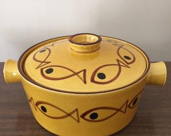 Danish Knabstrup Lidded Bowl