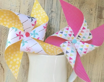 Pinwheels - Shine Bright Collection - set of 8 pinwheels