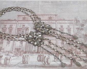 Great Gatsby style Necklace, Dolman Bijoux beaded Necklace, Bib Necklace