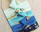 Seaside - Gift Set of 5 Perfect Hair Ties
