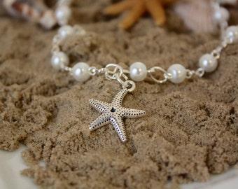 Starfish Necklace - Beach Wedding - Flower Girl Jewelry - Destination Wedding - Charm Necklace - Flowergirl Necklace - Annabelle