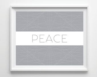 Peace, Daily Reminders, Bedroom Decor, Colorful Art, Motivational, Inspirational, Graphic Design