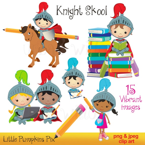 Knight Digital Clipart Kid with Laptops Kid with Computer