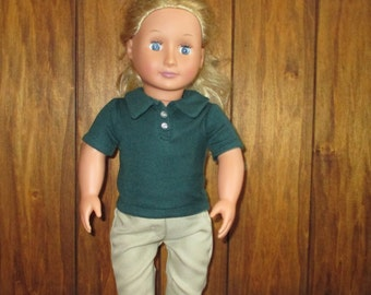 "Polo Shirt for your 18"" American Girl Doll"