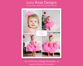 8 x 10 Photo Collage Template - 4