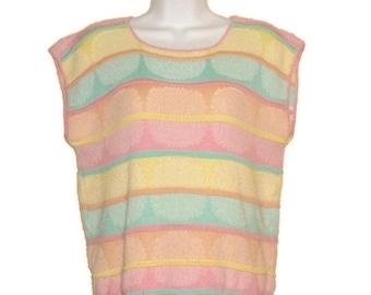 Vintage 80's sleeveless sweater