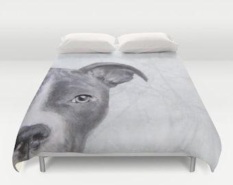 Dog Lover's item, Pit bull, DUVET COVER, Bedding.