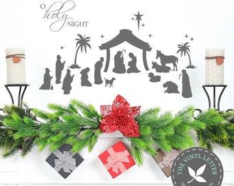 O Holy Night Christmas Nativity Vinyl Wall Art Decor Sticker Decal